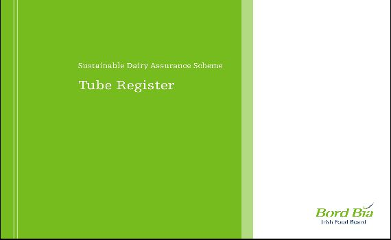 Bord Bia Tubes Register